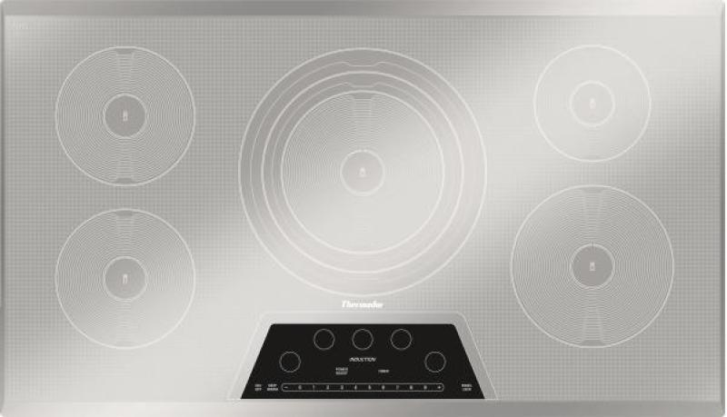 Thermador 36 inch Induction Cooktop cooking with induction