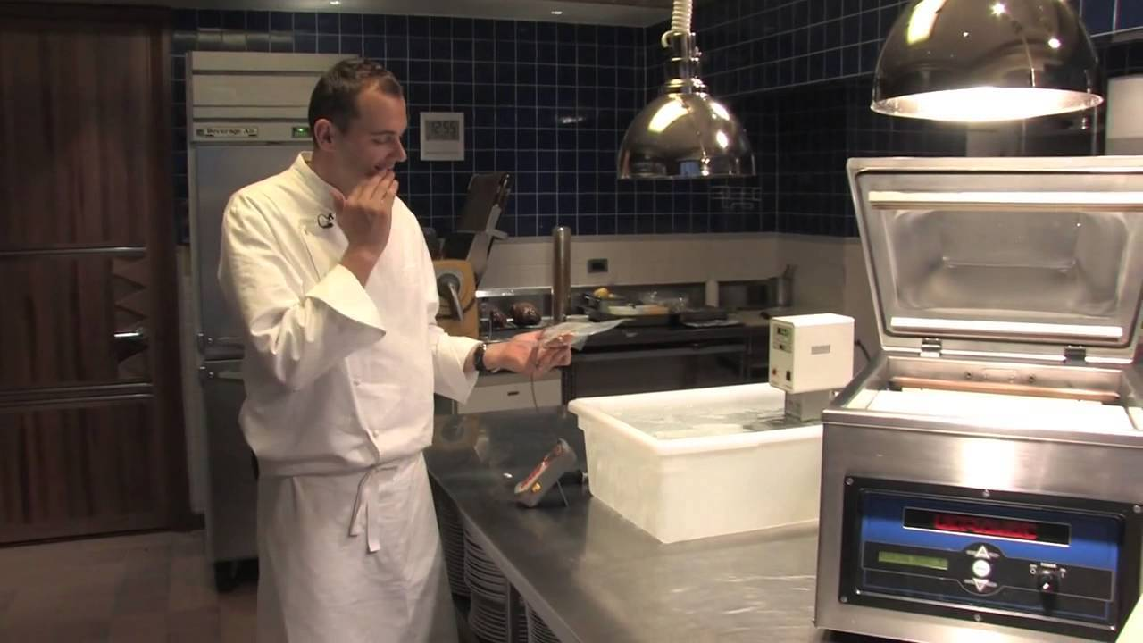 sous vide in professional kitchen