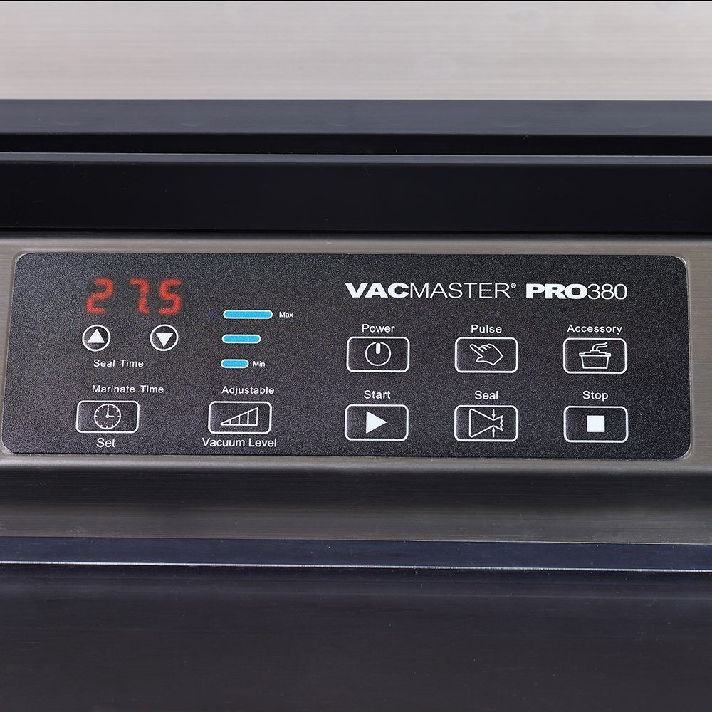VacMaster PRO380 food vacuum sealer Controls