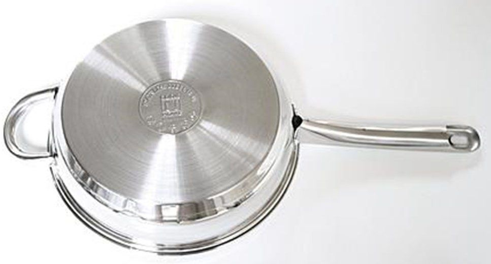bottom-clad-pan induction cookware