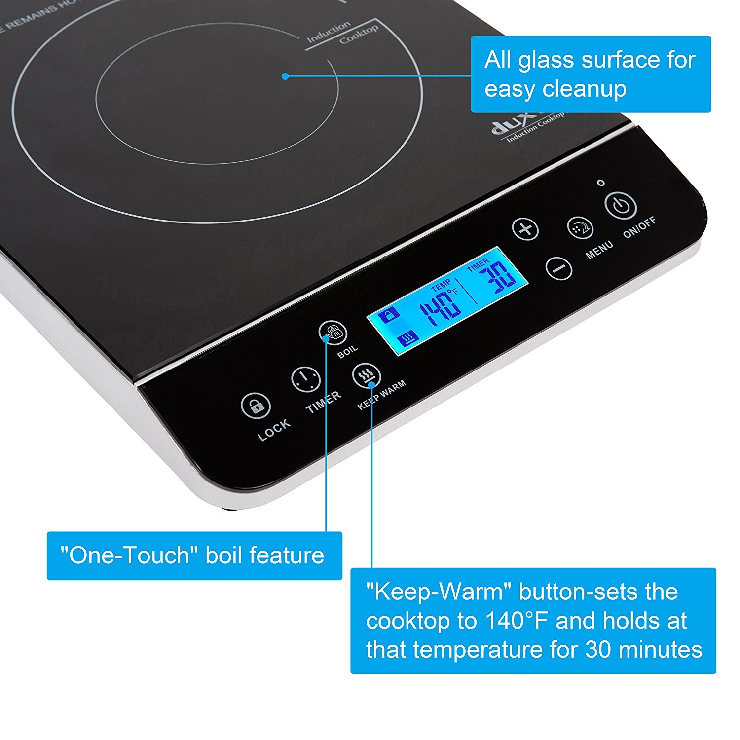 Duxtop induction cooktop 9600LSCP