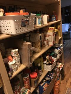 A full pantry. waste less food