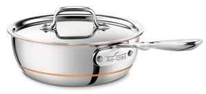 All Clad Copper Core Saucier
