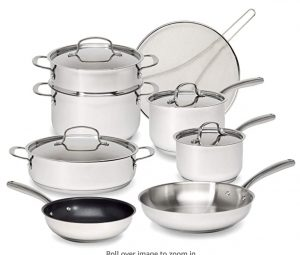 Goodful 12 Piece stainless cookware set