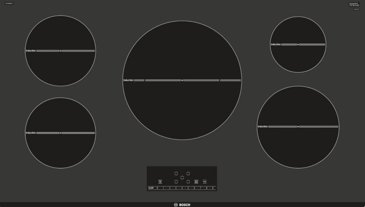 Bosch 500 Series 36 In Induction Cooktop